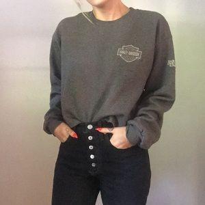 Cropped Harley Davidson sweater